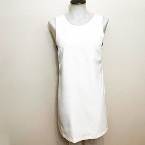 White Shift Dress With Black Bandeau Attached
